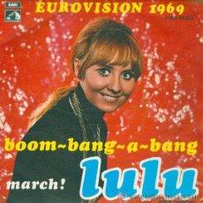 Disques de vinyle: LULU - BOOM BANG A BANG - EUROVISIÓN 1969. Lote 26761582