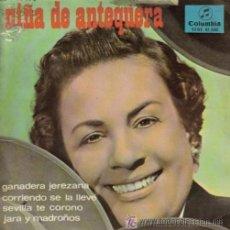 Discos de vinilo: NIÑA DE ANTEQUERA - GANADERA JEREZANA - EP, 1966. Lote 20389073