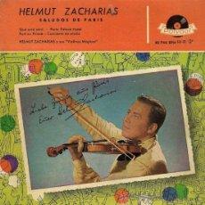 Discos de vinilo: HELMUT ZACHARIAS - SALUDOS DE PARÍS - 1958. Lote 26314323