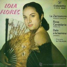 Discos de vinilo: LOLA FLORES - LA ZARZAMORA - EP, 1962. Lote 27299005