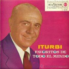 Discos de vinilo: JOSÉ ITURBI - FAVORITOS DE TODO EL MUNDO - 1962 (EXCELENTE CONSERVACIÓN). Lote 26113964