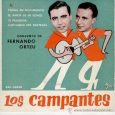 Discos de vinilo: LOS CAMPANTES // POESIA EN MOVIMIENTO + 3 // EP 1961. Lote 26897515