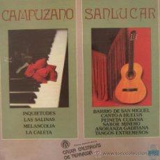 Discos de vinilo: FELIPE CAMPUZANO Y MANOLO SANLÚCAR - LP, 1978. Lote 25015409