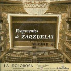 Discos de vinilo: FRAGMENTOS DE ZARZUELAS Nº 52 EP SELLO ALHAMBRA AÑO 1960 ATAULFO ARGENTA. . Lote 20475274