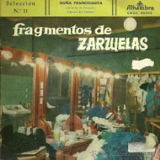 Discos de vinilo: FRAGMENTOS DE ZARZUELAS Nº 11 EP SELLO ALHAMBRA AÑO 1959 ATAULFO ARGENTA.. Lote 20475324