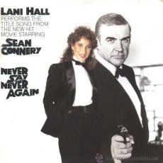 Discos de vinilo: BSO NEVER SAY NEVER AGAIN (LANI HALL) SINGLE 1983 PROMOCIONAL SPAIN. Lote 20480286