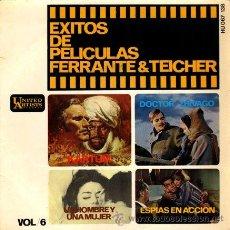 Discos de vinilo: FERRANTE Y TEICHER ··· UN HOMBRE Y UNA MUJER / KARTUM / DOCTOR ZHIVAGO / EXTRAÑOS EN LA...- (EP 45R). Lote 181150601
