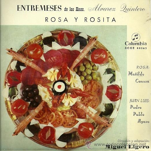 MATILDE CONESA / PEDRO PABLO AYUSO EP SELLO COLUMBIA AÑO 1959 DIRECCION MIGUEL LIGERO (Música - Discos de Vinilo - EPs - Bandas Sonoras y Actores)