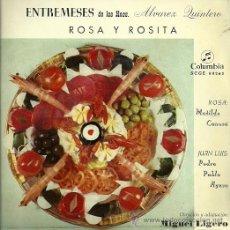 Discos de vinilo: MATILDE CONESA / PEDRO PABLO AYUSO EP SELLO COLUMBIA AÑO 1959 DIRECCION MIGUEL LIGERO. Lote 20503419