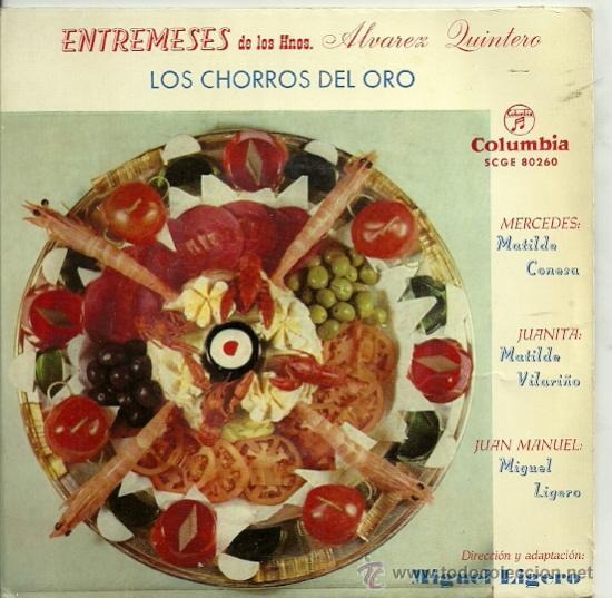 MATILDE CONESA / MATILDE VILARIÑO / MIGUEL LIGERO EP SELLO COLUMBIA AÑO 1959 (Música - Discos de Vinilo - EPs - Bandas Sonoras y Actores)