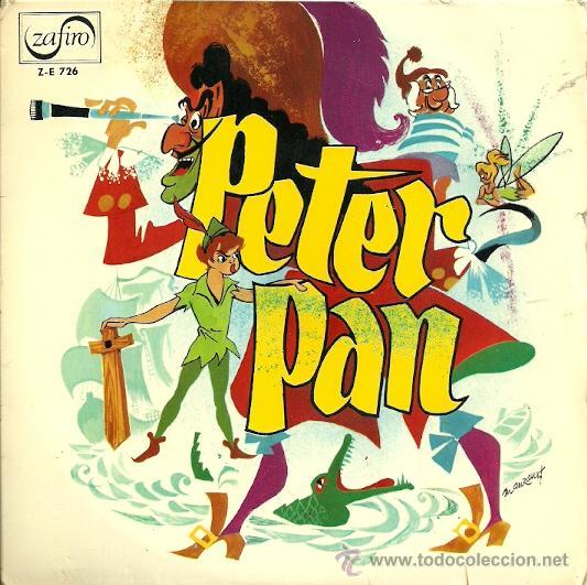 PETER PAN (CUENTO) EP SELLO ZAFIRO AÑO 1964 (VINILO ROJO) (Música - Discos de Vinilo - EPs - Música Infantil)