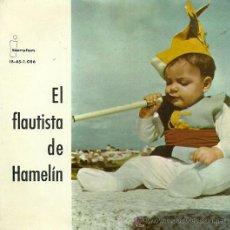 Discos de vinilo: EL FLAUTISTA DE HAMELIN (CUENTO) EP SELLO IBEROFON AÑO 1961 (VINLO DE COLORES). Lote 20505745