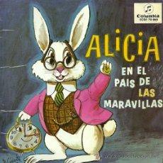 Discos de vinilo: ALICIA EN EL PAIS DE LAS MARAVILLAS (CUENTO) EP SELLO COLUMBIA AÑO 1963. Lote 20505901