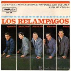 Discos de vinilo: LOS RELAMPAGOS – DOS CRUCES – EP SPAIN 1965 - NOVOLA NV-109. Lote 21643768