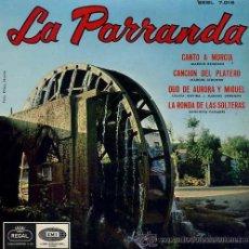 Discos de vinilo: LA PARRANDA - CANTO A MURCIA - MARCOS REDONDO . Lote 26454525