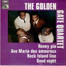 Discos de vinilo: THE GOLDEN GATE QUARTET // HONEY PIE ( TEMA BEATLES) - ROCK ISLAND LINE // EP 1969. Lote 27015795