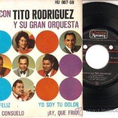 Discos de vinilo: EP A BAILAR CON TITO RODRIGUEZ Y SU GRAN ORQUESTA MATRIMONIO FELIZ - LA COCINA DE CONSUELO- YO SOY T. Lote 20553115