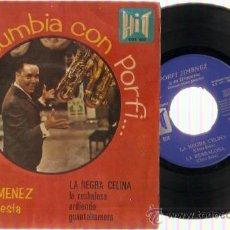 Discos de vinilo: EP PORFI JIMENEZ Y SU ORQUESTA LA NEGRA CELINA- LA BESBALOSA-ARDIENDO -GUANTANAMERA. Lote 20553171