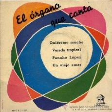 Discos de vinilo: EDUARDO GRILL / QUIEREME MUCHO / VEREDA TROPICAL / PANCHO LOPEZ + 1 (EP). Lote 20573810