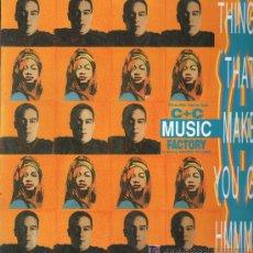 Discos de vinilo: C & C MUSIC FACTORY - THINGS THAT MAKE YOU GO HMMM... - MAXISINGLE 1991 COMO NUEVO. Lote 23737884
