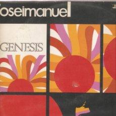 Discos de vinilo: LP JOSE Y MANUEL - GENESIS - COMPONENTES DEL GRUPO SOLERA. Lote 27488309
