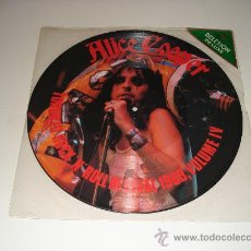 Discos de vinilo: ALICE COOPER / TORONTO ROCK'N'ROLL REVIVAL 1969, VOLUME IV - LP FOTODISCO MADE IN ENGLAND - PICTURE. Lote 26754454