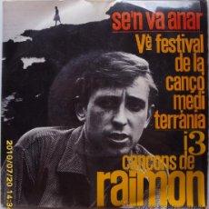 Discos de vinilo: RAIMON - 1963. Lote 26705513