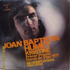 Discos de vinilo: JOAN BAPTISTA HUMET - 1972. Lote 27478069