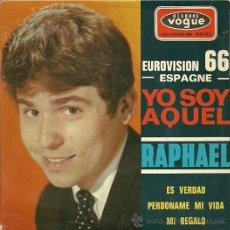 Discos de vinil: RAPHAEL EP SELLO VOGUE EUROVISION ´66 EDITADO EN FRANCIA. Lote 20625211