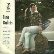 Discos de vinilo: FINA GALICIA EP SELLO ZAFIRO AÑO 1963. Lote 20625410