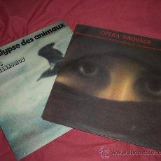 Discos de vinilo: OPERA SAUVAGE Y APOCALYPSE DES ANIMAUX 2 LPS DE VANGELIS ORIGINAL. Lote 31914752