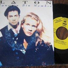 Discos de vinilo: SINGLE VINILO PLATON TU CANSIÓN SIN NOMBRE. Lote 20670548
