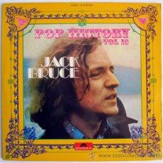 Discos de vinilo: JACK BRUCE (CREAM) – POP HISTORY VOL. 15 – 2 LP SPAIN 1972 – POLYDOR 2478 021/022. Lote 20671279