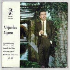 Discos de vinilo: ALEJANDRO ALGARA-ZAFIRO,1962 2º FESTIVAL DE LA COSTA VERDE DE GIJON- REGALO DE DIOS, ¿DONDE ESTAS?. Lote 27640237