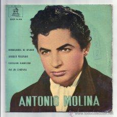 Discos de vinilo: ANTONIO MOLINA ODEON,1962- ESTUDIANTINA,ARRULLO MARINERO/CABALLITO BANDOLERO,OYE MI CAMPANA. Lote 27640249