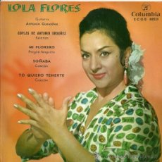 Discos de vinilo: LOLA FLORES EP SELLO COLUMBIA AÑO 1962. Lote 20675587