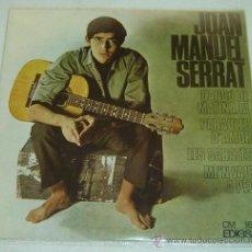 Discos de vinilo: DISCO SINGLE VINILO JOAN MANUEL SERRAT- CANÇO DE MATINADA/ PARAULES D'AMOR-EDIGSA 1966. Lote 26262375