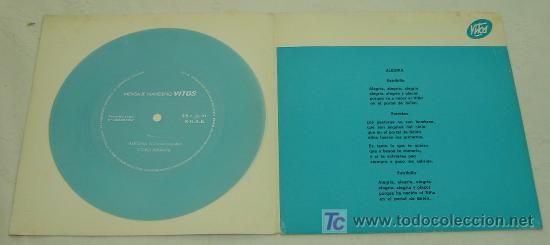 Discos de vinilo: DISCO SINGLE PLASTICO MENSAJE NAVIDEÑO VICOS - VILLANCICOS POPULARES 1968- MUY RARO - Foto 2 - 23400052