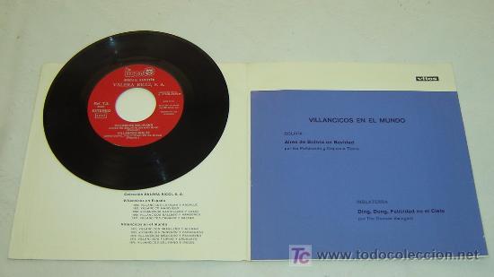 Discos de vinilo: DISCO SINGLE PLASTICO MENSAJE NAVIDEÑO VICOS - VILLANCICOS POPULARES 1976- MUY RARO - Foto 2 - 22240936