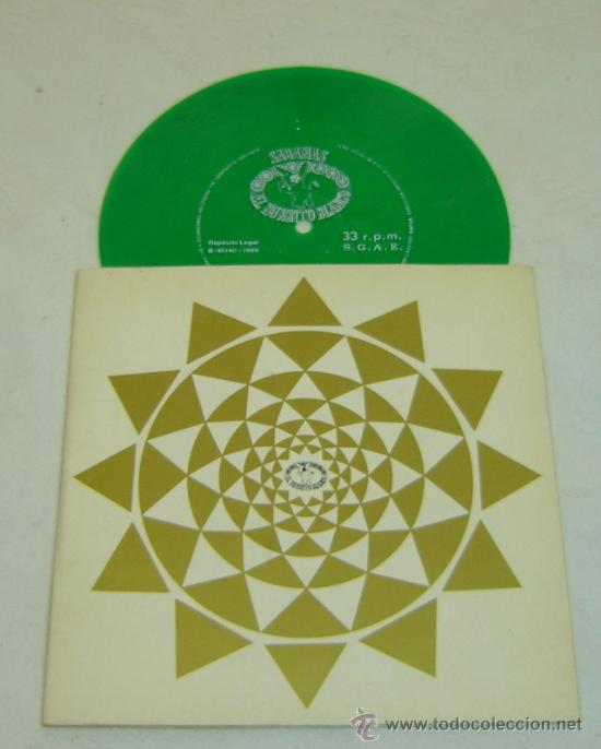 DISCO SINGLE PLASTICO-FELICITACION NAVIDEÑA SABANAS BURRITO BLANCO-NOCHE DE PAZ- 1969 - MUY RARO (Música - Discos - Singles Vinilo - Étnicas y Músicas del Mundo)