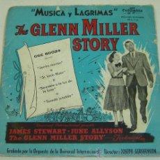 Discos de vinilo: DISCO SINGLE VINILO THE GLENN MILLER STORY-MUSICA Y LAGRIMAS-JARRITA MARRON - COLUMBIA . Lote 26232978