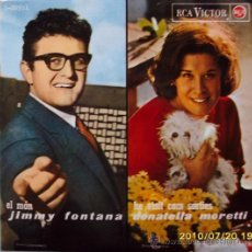 Discos de vinilo: JIMMY FONTANA,DONATELLA MORETTI,RITA PAVONE,GIANI MORANDI - 1965. Lote 27198503