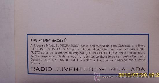 Discos de vinilo: IGUALADA RADIO JUVENTUT D´IGUALADA 1971 - Foto 3 - 26886406