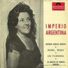 Discos de vinilo: IMPERIO ARGENTINA EP SELLO POLYDOR AÑO 1965 DEL FILM CARMEN LA DE TRIANA . Lote 20842042