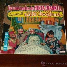 Discos de vinilo: HERTA FRANKEL Y SUS MARIONETAS SINGLE-CUENTO LA CUEVA DE ALI BABA. Lote 20852291