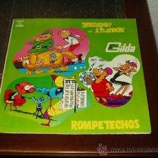 Discos de vinilo: MORTADELO Y FILEMON.-ROMPETECHOS Y LAS HERMANAS GILDA LP.TEBEO MUY RARO. Lote 26392666