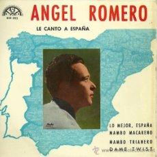 Discos de vinilo: ANGEL ROMERO EP SELLO BERTA AÑO 1966. Lote 20871179