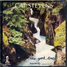 Discos de vinil: CAT STEVENS / NEW YORK TIMES / NASCIMENTO (SINGLE 78). Lote 20950161