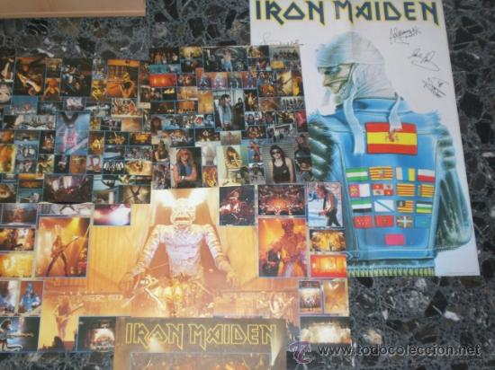 IRON MAIDEN RARE LIVE AFTER DEATH SPANISH 2LP COMPLETO POSTER MAS INSERTOS (Música - Discos - LP Vinilo - Heavy - Metal)