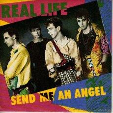 Discos de vinilo: SINGLE VINILO - REAL LIFE - SEND ME AN ANGEL. BURNING BLUE. Lote 21003029